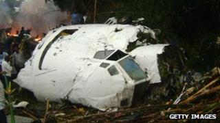 Hewa Bora plane crash in July 2011