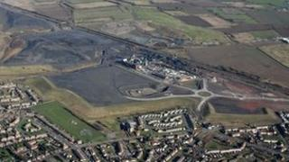 Aerial view of the planned site of the Don Valley power plant, adjacent to the Hatfield Colliery