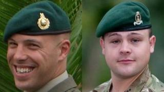 Sgt Luke Taylor and L/Cpl Michael Foley