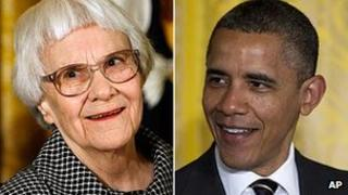 Harper Lee, pictured in 2007, and President Obama
