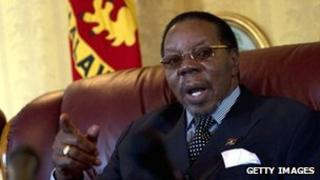 File picture of Malawian President Bingu wa Mutharika from 18 July 2011