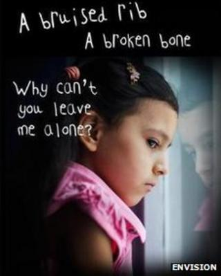 Poster to raise awareness of child abuse