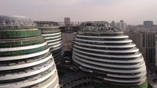 Galaxy SOHO under construction in Beijing, 30 March 2012