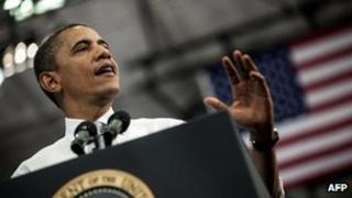 Barack Obama speaks in Boca Raton, Florida 10 April 2012