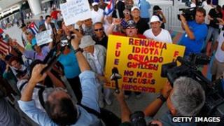 Protesters in Miami