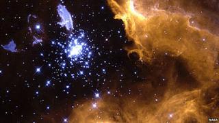 bright stars in night sky