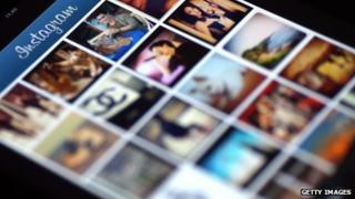 A mobile phone screen displaying Instagram photos
