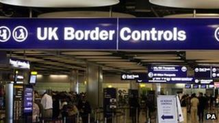 UK Border Controls point at Heathrow