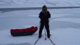 Mark Wood near North Pole