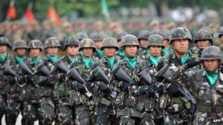 File photo: Philippine soldiers
