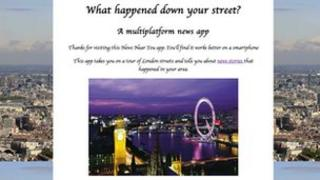 Screenshot of Rory's web app