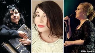 PJ Harvey, Kate Bush, Adele