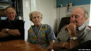 Elwyn, Nancy and Ceredig Williams at their farm in Wales