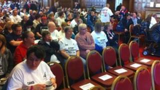 Meeting at Sheffield Town Hall about Remploy's future