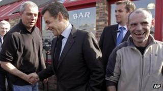 Nicolas Sarkozy on the campaign trail