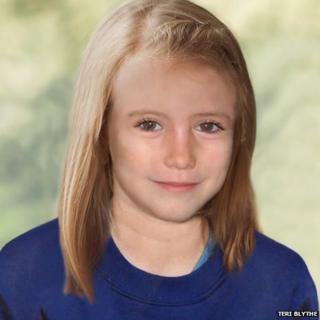 How Madeleine might look age nine
