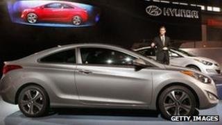 Hyundai cars on display