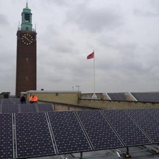 Solar panels on Norwich City Hall