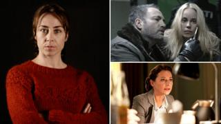 Clockwise, from left: The Killing, The Bridge and Borgen