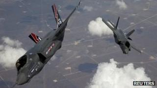 Joint Strike Fighter planes (file pic)