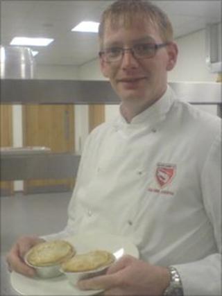 Graham Aimson with award winning pies