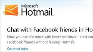 Hotmail screengrab