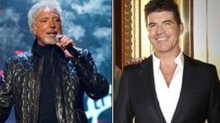 Sir Tom Jones (left) and Simon Cowell, who head the judging panel on The Voice and Britain's Got Talent respectively