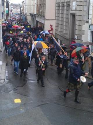 March in Falmouth