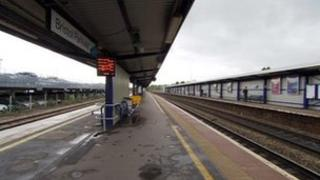 Empty platforms at Bristol Parkway railway stations