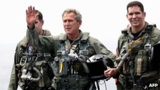 President Bush in a flight suit