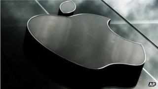 Apple logo outside store