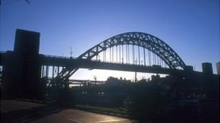 Tyne Bridge and Newcastle skyline