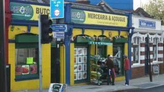 Brazilian grocer's in Willesden, west London