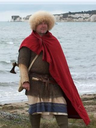 Tony Thorpe in Saxon outfit