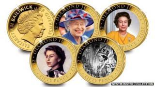 Guernsey Diamond Jubilee coins