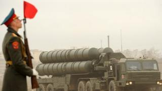Russian surface-to-air missile system, Moscow (18 April 2012)