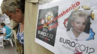 Supporters of former Ukrainian Prime Minister Yulia Tymoshenko are seen in a tent camp in central Kiev May 3, 2012