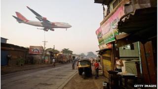 Air India landing in Mumbai