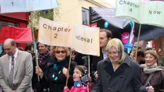 Vanessa Redgrave at Brighton Festival parade