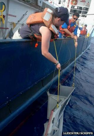 Trawling the ocean surface for micro-plastic