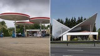 Red Hill (left) and Markham Moor service stations
