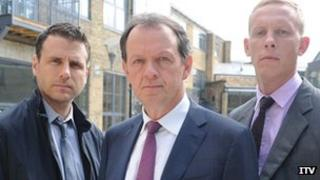 Jason Durr, Kevin Whately and Laurence Fox in Lewis