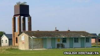 Buildings and water tower at Stow Maries Aerodrome