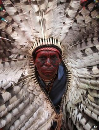 Brazilian tribesman (Image: AP)