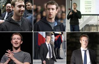 Six images of Mark Zuckerberg (Getty Images)