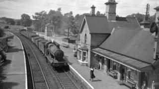 Arley station, Worcestershire, in 1950s (image: Kidderminster Railway Museum Archive)