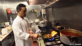 Monir Uddin, head chef at Cafe Bangla on Brick Lane