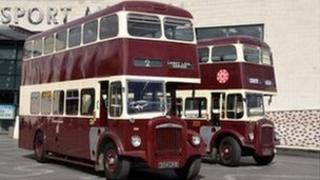 Vintage buses on show