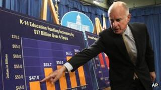 Governor Jerry Brown explains his new budget proposal, 14 May 2012