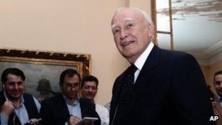 Greek President Karolos Papoulias, 15 May